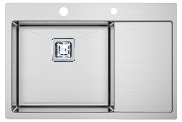Кухонная мойка Fabiano TOP 69 Left (690x510) 1.2 мм