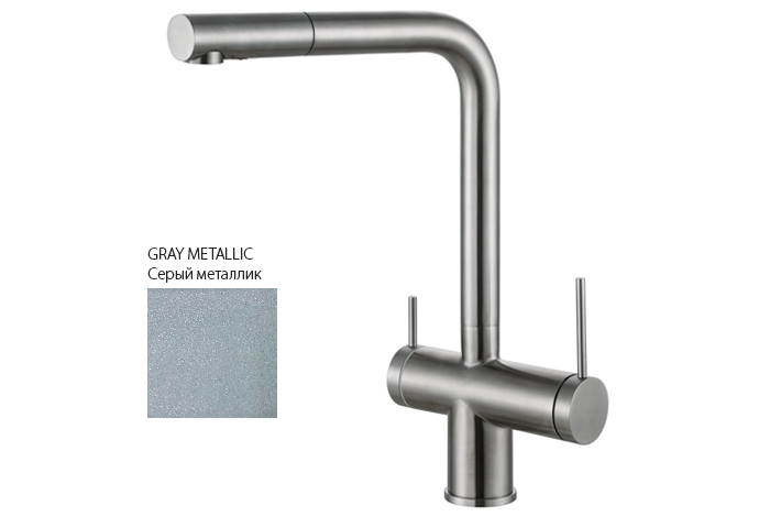 Смеситель кухонный Fabiano FKM 31.14 SS Gray Metallic