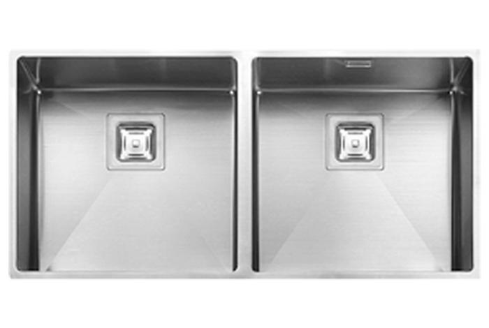 Кухонная мойка Fabiano Quadro 87х2 R10 Double (87x44) 1,20 мм