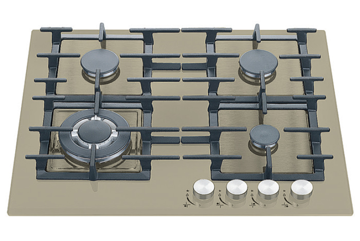 Газовая варочная поверхность Fabiano FHG 14-44 VGH-T Champagne