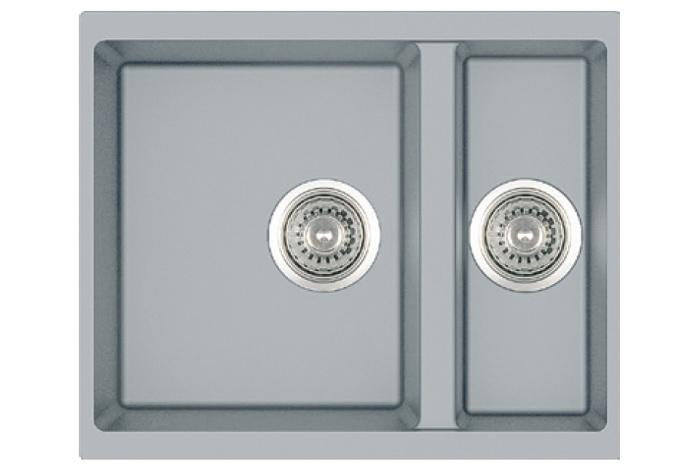 Кухонная мойка Fabiano Quadro 56x46x15 Grey Metallic