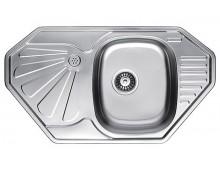 Кухонная мойка Fabiano BR 85x47 угловая матовая полировка