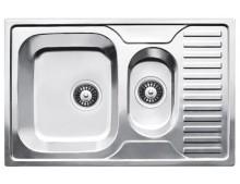 Кухонная мойка Fabiano 78x50x1,5 (c фрукт.) сатин (0,80)