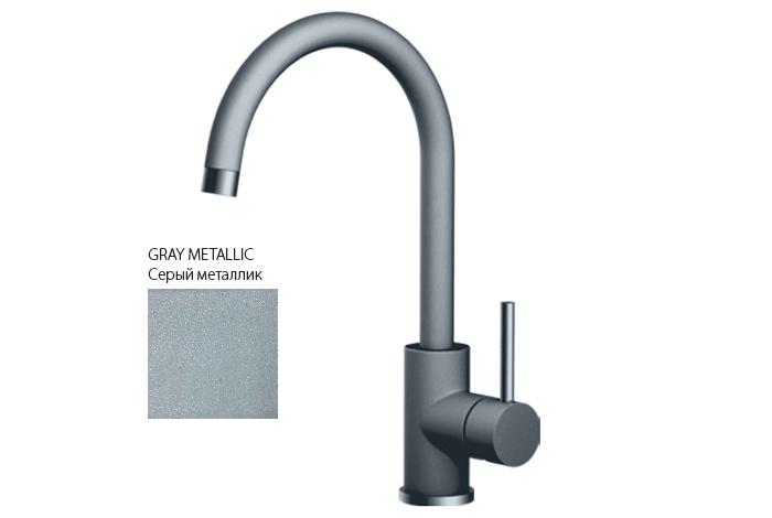 Смеситель кухонный Fabiano FKM-41 S/Steel Grey Metallic