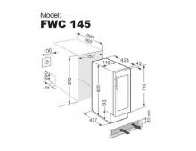 Винный шкаф Fabiano FWC 145 Black