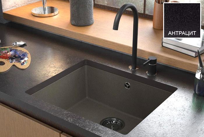 Кухонная мойка Fabiano Quadro 55x46 Antracit