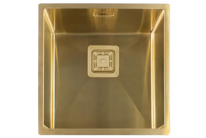 Кухонная мойка Fabiano Quadro 44 Nano Gold
