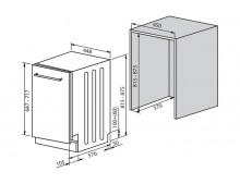 Посудомоечная машина Fabiano FBDW 8410
