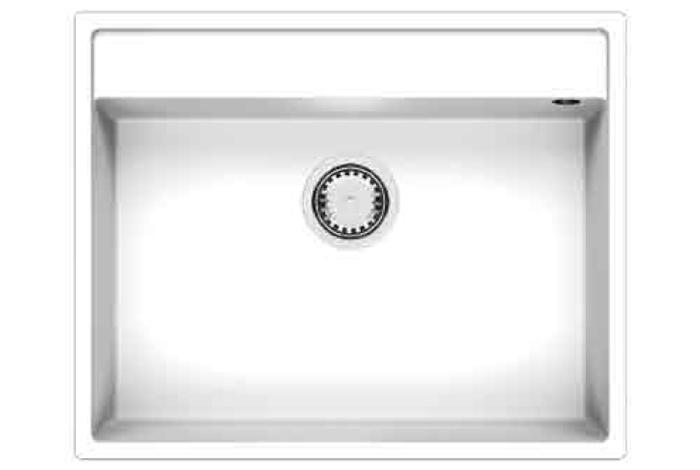 Кухонная мойка Fabiano Cubix 64x52 Alpine White
