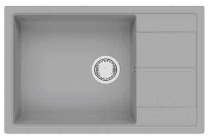 Кухонная мойка Fabiano Cubix 78x50 XL Grey Metallic