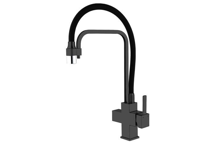 Смеситель кухонный Fabiano FKM 31.11 Black Steel