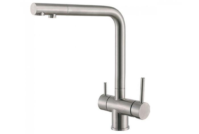 Смеситель кухонный Fabiano FKM 31.40 S/Steel Inox