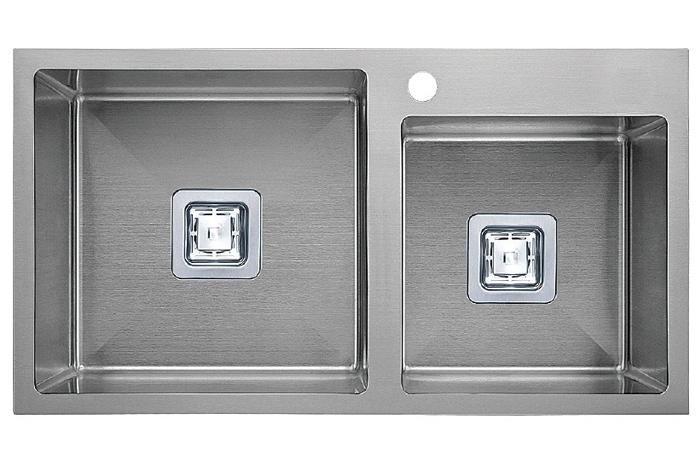 Кухонная мойка Fabiano Quadro TOP 78*2 R10 (780x490) 1,20 мм