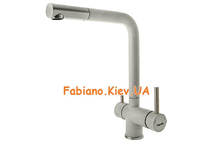 Смеситель кухонный Fabiano FKM 31.7 S/Steel Beton