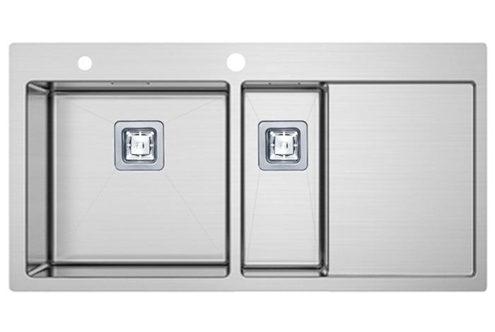 Кухонная мойка Fabiano TOP 89x15 Left (890x510) 1.2 мм
