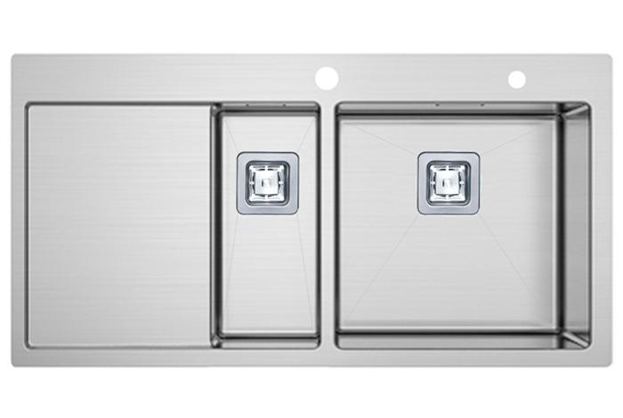 Кухонная мойка Fabiano TOP 89x15 Right (890x510) 1.2 мм