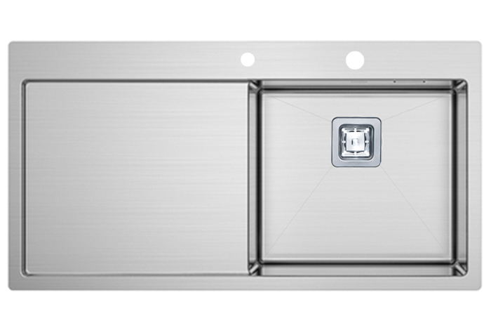 Кухонная мойка Fabiano TOP 89 Right (890x510) 1.2 мм