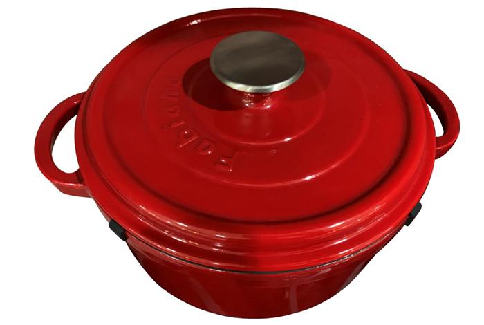 Чугунная кастрюля Fabiano C 240 IVORY-RED