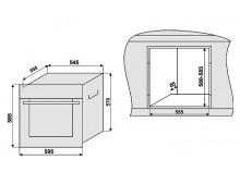 Электрический духовой шкаф Fabiano FBO-R 41 Antracit