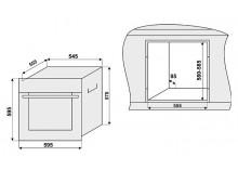 Электрический духовой шкаф Fabiano FBO-R 43 Burgundy