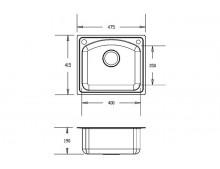 Кухонная мойка Fabiano 48x42 Microdecor