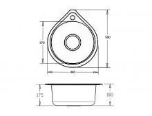 Кухонная мойка Fabiano 500*440 (капля) микродек. (0,80)