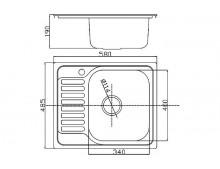 Кухонная мойка Fabiano 580x485 Microdecor