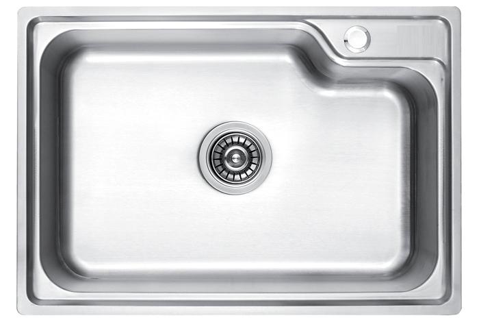 Кухонная мойка Fabiano BR680X450 брашированная