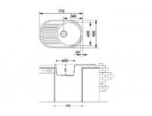 Кухонная мойка Fabiano Arc 77x50 Antracit