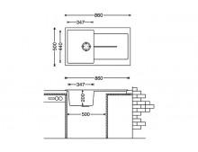 Кухонная мойка Fabiano Classic 86x50 Beige