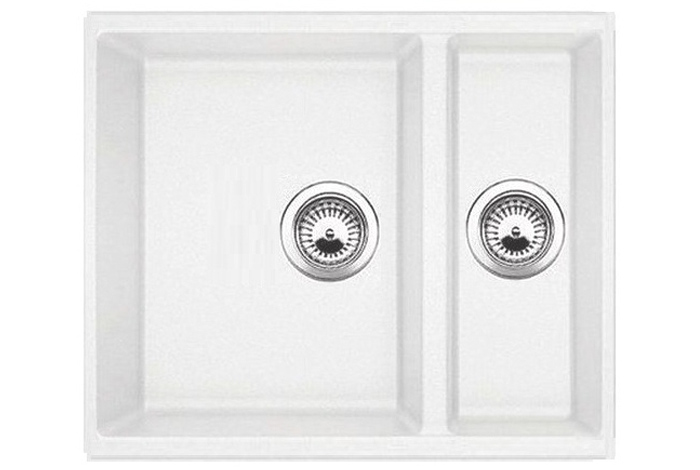 Кухонная мойка Fabiano Quadro 56x46x15 Alpine White