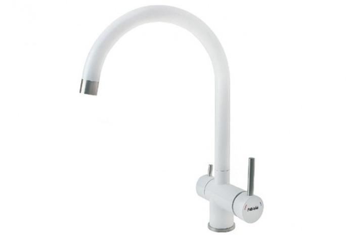 Смеситель кухонный   Fabiano FKM 31.5 S/Steel Alpine White