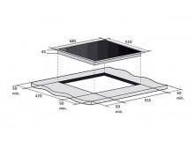 Газовая варочная поверхность Fabiano FHG 10-55 VGH-T Black Glass