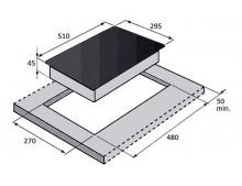 Газовая варочная поверхность Fabiano FHG 16-2 VGH Black Glass
