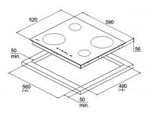 Индукционная варочная поверхность Fabiano FHI 19-44 VTC Lux White
