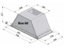 Вытяжка кухонная Fabiano Box 60 Silence+ Inox