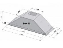 Вытяжка кухонная Fabiano Box 90 Inox