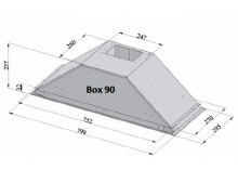 Вытяжка кухонная Fabiano Box 90 Silence+ Inox